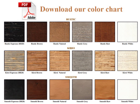 Download our color chart