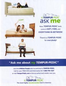 Tempurpedic goes Organic? Hahaha no.