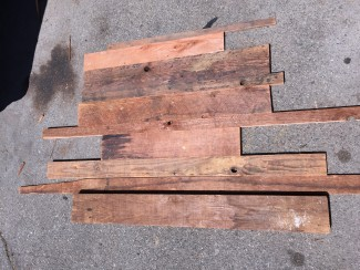 reclaimed wood scraps