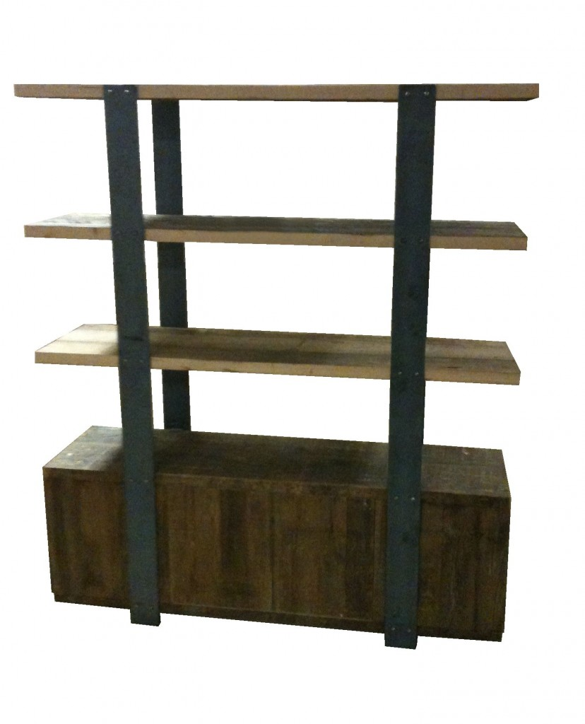Hermosa Bookcase2 828x1024 - Organic Furniture - Steel and Wood