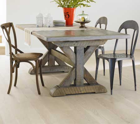 Bowmont Trestle dining table - Custom Made EcoFriendly Furniture by Urban Woods