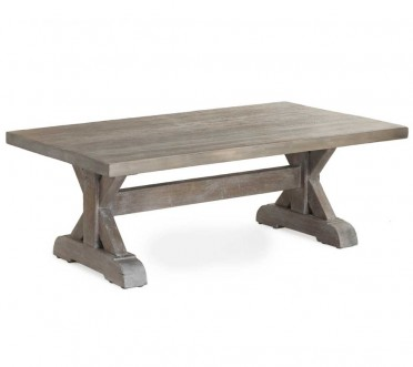 Trestle coffee table rustic grey - bowmont trestle