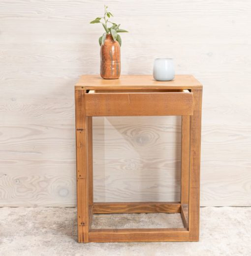 Avocado End table drawer open front