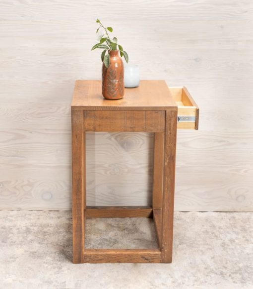 Avocaod end table drawer open side