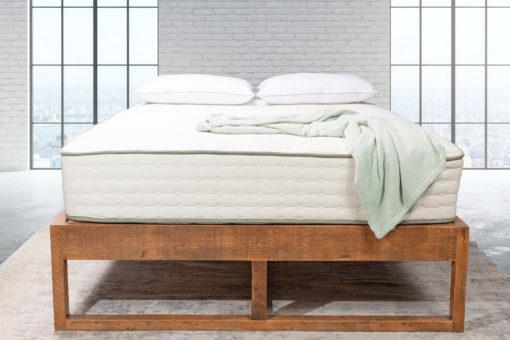 100% reclaimed wood bed frame